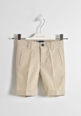 Elegante pantalone corto in misto lino sarabanda BEIGE-0435