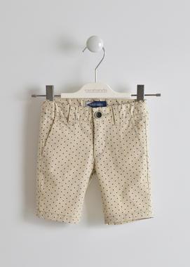 Pantalone corto fantasia micro pois sarabanda BEIGE-NAVY-6GG3