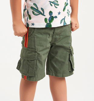 Pantalone modello cargo con fettucce laterali sarabanda VERDE SALVIA-4731