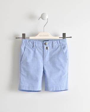 Pantalone corto fil a fil stretch sarabanda CELESTE-3634