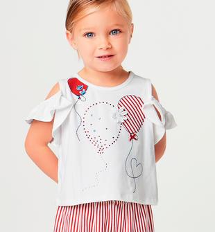Completo bambina composto da pantalone e t-shirt sarabanda ROSSO-2246