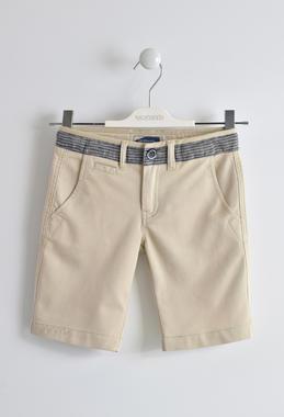 Elegante pantalone corto in cotone sarabanda BEIGE-0435