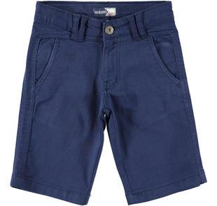 Comodo pantalone corto per bambino in cotone stretch sarabanda NAVY-3854