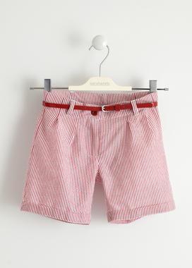 Shorts bambina fantasia microrigata sarabanda ROSSO-2246