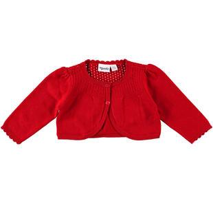 Scaldacuore in tricot con particolare lavorazione mignolo ROSSO-2253
