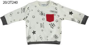 Maglietta 100% cotone con simpatica stampa mignolo PANNA-NERO-6Y73