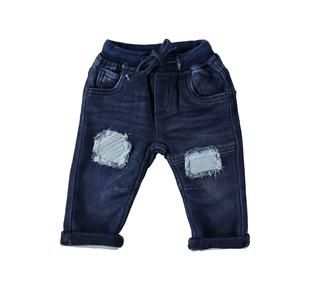 Jeans in denim stretch per neonato mignolo STONE WASHED-7450