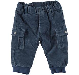 Pantalone in velluto a coste per neonato mignolo NAVY-3856