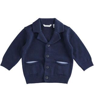 Cardigan con toppe per neonato minibanda NAVY-3854