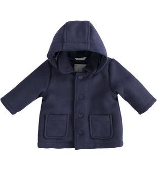 Giubbotto in velluto liscio per neonato minibanda NAVY-3854