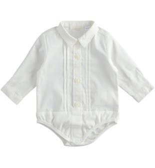 Camicia body per neonato minibanda PANNA-0112