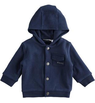 Felpa per neonato con cappuccio minibanda NAVY-3854