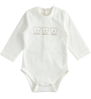 Body con orsetti in jersey stretch minibanda PANNA-0112