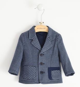 Elegante giacca in pied de poule pesante minibanda NAVY-3854