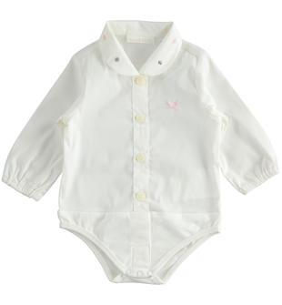 Camicia a body per neonata minibanda PANNA ROSA-8146