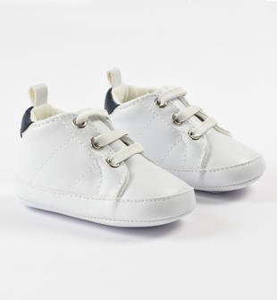 Comode e sportive scarpine neonato minibanda BIANCO-0113