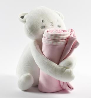 Idea regalo: morbida coperta neonato modello unisex minibanda ROSA-2763