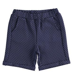 Elegante e comodo shorts neonato in misto viscosa stretch minibanda NAVY-BIANCO-6MB4