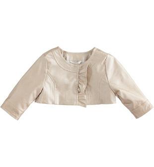Giacchino neonata con rouches minibanda BRONZO-1152