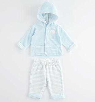 Comoda e perfetta tutina neonato in ciniglia minibanda SKY-5818