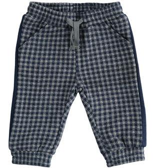 Comodo pantalone neonato in felpa misto cotone e viscosa minibanda GRIGIO MELANGE-8993