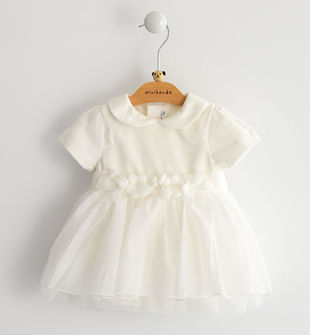 Vestito neonata da cerimonia manica corta minibanda PANNA-0112