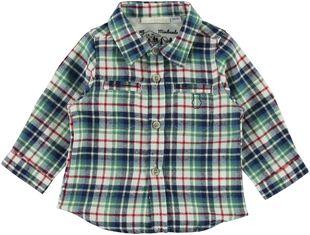 Camicia a quadri 100% cotone minibanda VERDE-4725