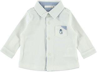 Camicia bianca 100% cotone minibanda PANNA-0112