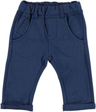 Pantaloni in leggera felpa tinta unita minibanda NAVY - 3657