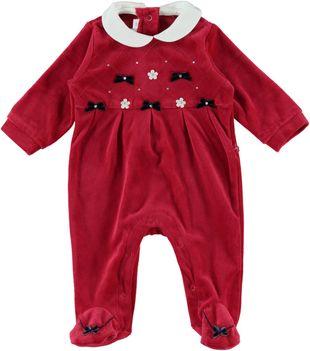 Tutina neonato con fiocchi minibanda ROSSO - 2253