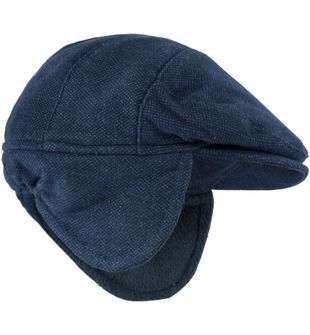 Cappello modello coppola con paraorecchie minibanda NAVY - 3854