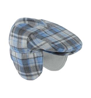 Cappello modello coppola per neonato minibanda GRIGIO-BLU-8225