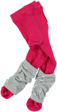 Calzamaglia neonata con scaldamuscolo a pois minibanda FRAGOLA-2365