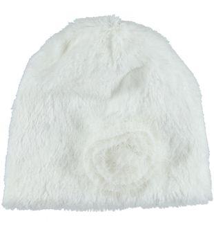Cappello per neonata in ecopelliccia minibanda PANNA - 0112