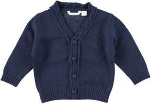 Cardigan neonato in morbido tricot misto cotone, viscosa e cachemire  NAVY-3854