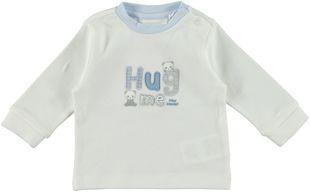 Maglietta neonato in caldo cotone ricamo con tessuti minibanda PANNA-0112