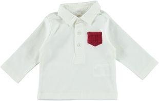 Polo per neonato 100% cotone con tasca  PANNA-0112