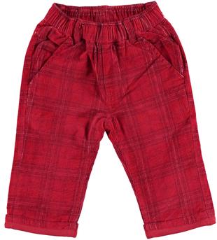 Pantalone in velluto 100% cotone per neonato  ROSSO-2536