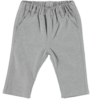 Pantalone per neonato in morbido tessuto mano calda  GRIGIO MELANGE-8969