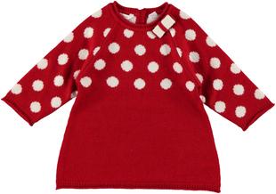 Mini abito per neonata a pois minibanda ROSSO - 2253