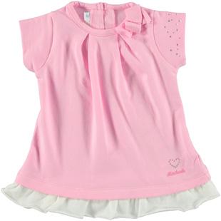 Mini abito per neonata con fiocco laterale minibanda ROSA - 2752
