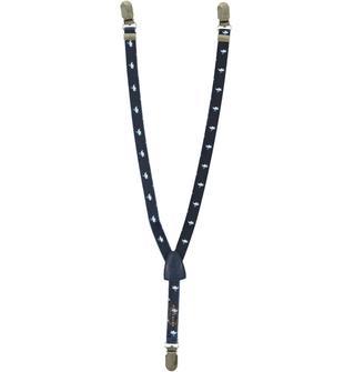 Bretelle elastiche con fantasia aereoplanino minibanda BLU-BIANCO-6U81