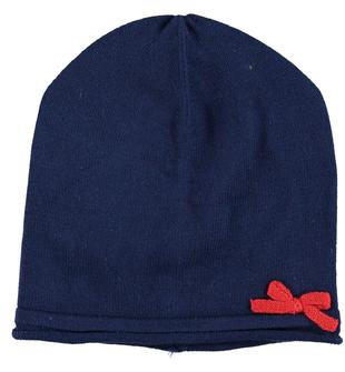 Cappello a cuffia in tricot 100% cotone minibanda NAVY-3547
