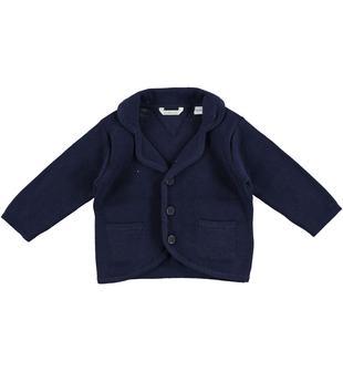 Delizioso cardigan in tricot 100% cotone minibanda NAVY-3854