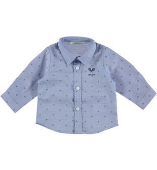 Camicia a manica lunga stampata all over minibanda AZZURRO-BLU-6S14
