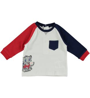 Simpatica maglietta in jersey 100% cotone minibanda ROSSO-2256