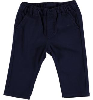 Elegante pantalone in raffinato tessuto armaturato minibanda NAVY-3854