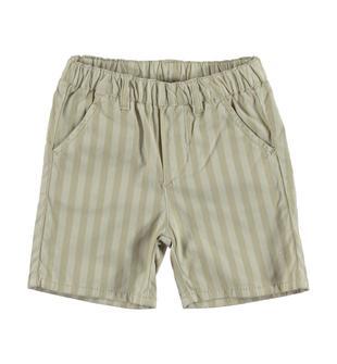 Pantaloncino rigato in raffinato tessuto a riga larga minibanda BEIGE-0436