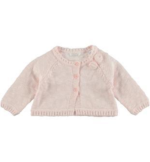 Cardigan corto in tricot malfilè 100% minibanda ROSA-2711