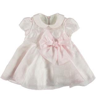 Incantevole vestitino in elegante tessuto minibanda ROSA-2711